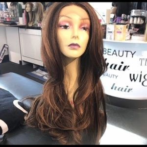 Accessories - Wig Long 30+ Layers warm brown Swisslace Lacefront